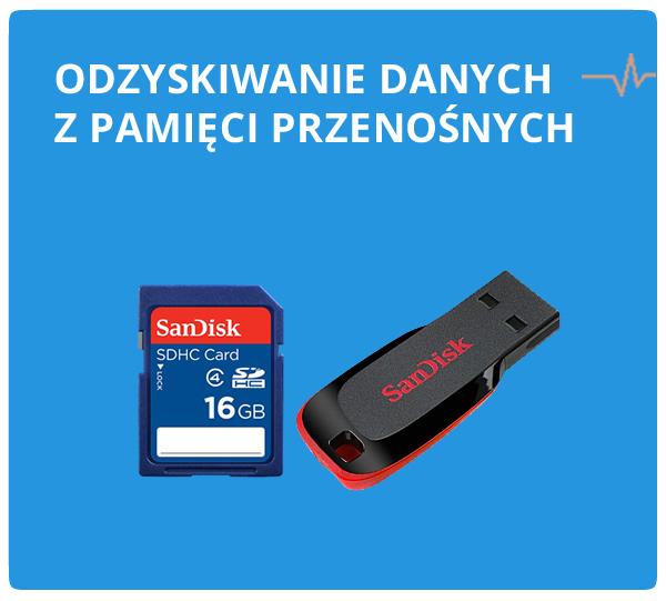 odzyskiwanie danych z pamięći flash, pendrive, kart
